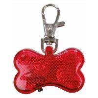 TRIXIE Flasher für Hunde, 4,5 × 3 cm, rot