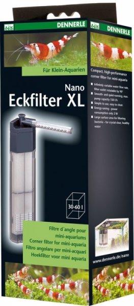 Dennerle Nano Filtro di Angolo XL per Mini Acquari fino 60L, Filtro Interno