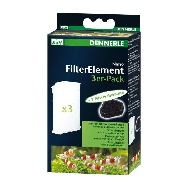 Dennerle Nano Elément de Filtre 3er-Pack pour Coin XL Cartouche