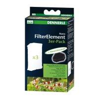 Dennerle Nano Elément de Filtre 3er-Pack pour Coin...