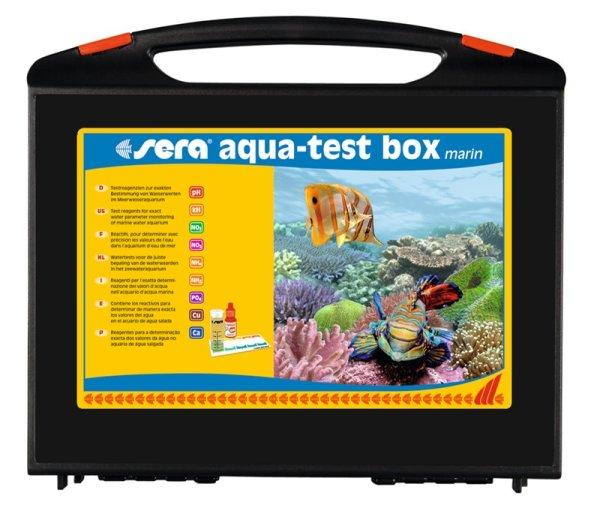 Sera Aqua-Test Box Marin Lab Test Suitcase Saltwater M Reagents Water Testing