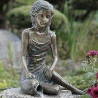 Rottenecker Bronze Figure Malin 34 cm Handmade Garden...