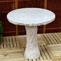 AC Pots Tisch rund natur, hellgrau