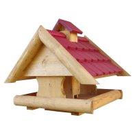 Star-Haus Futterhaus mit Silo und Holzschindeln